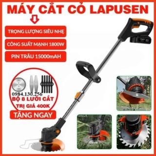 Máy cắt cỏ, tỉa cành cầm tay LAPUSEN pin khủng 15 cell, Hàng nhập khẩu cao cấp [TẶNG BỘ 8 LƯỠI CẮT] [BH 2NĂM] thumbnail