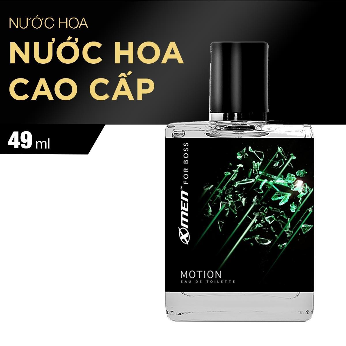 Nước hoa EDT X-Men for Boss Motion - Mùi hương năng động phóng khoáng 49ml (Màu xanh)