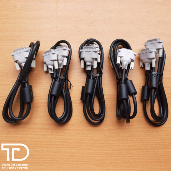 Bảng giá Dây cáp DVI chuẩn theo màn, hai đầu chống nhiễu dài 1.5m Phong Vũ