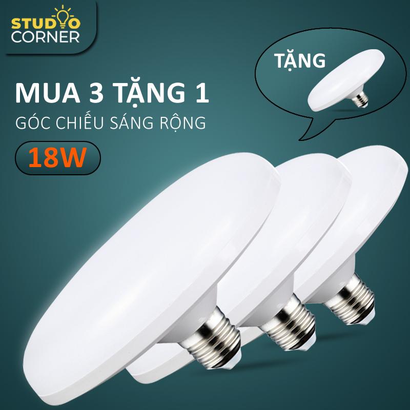 Bóng đèn led tròn hình đĩa bay tiết kiệm điện công suất cao 18W-24W-36W-50W, đuôi vít xoắn E27, tuổi thọ cao, ánh sáng trắng không gây chói mắt, không nhấp nháy, tiện dụng cho nhiều không gian nhà ở, văn phòng DDB