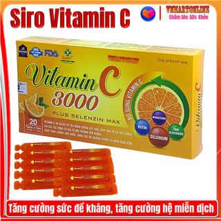 Siro Vitamin C 300 - Giúp Tăng Sức Đề Kháng, Hỗ Trợ Thải Độc, Tăng Cường Miễn Dịch, Phòng Ngừa Bệnh Tật thumbnail