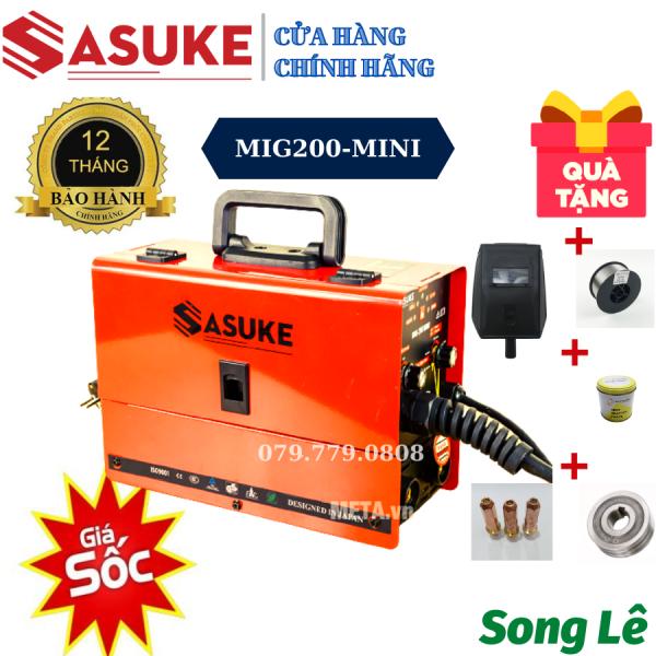 Máy hàn 3 chức năng không dùng khí - SASUKE MIG200 MINI - Tặng đầy đủ phụ kiện - BH 12 THÁNG