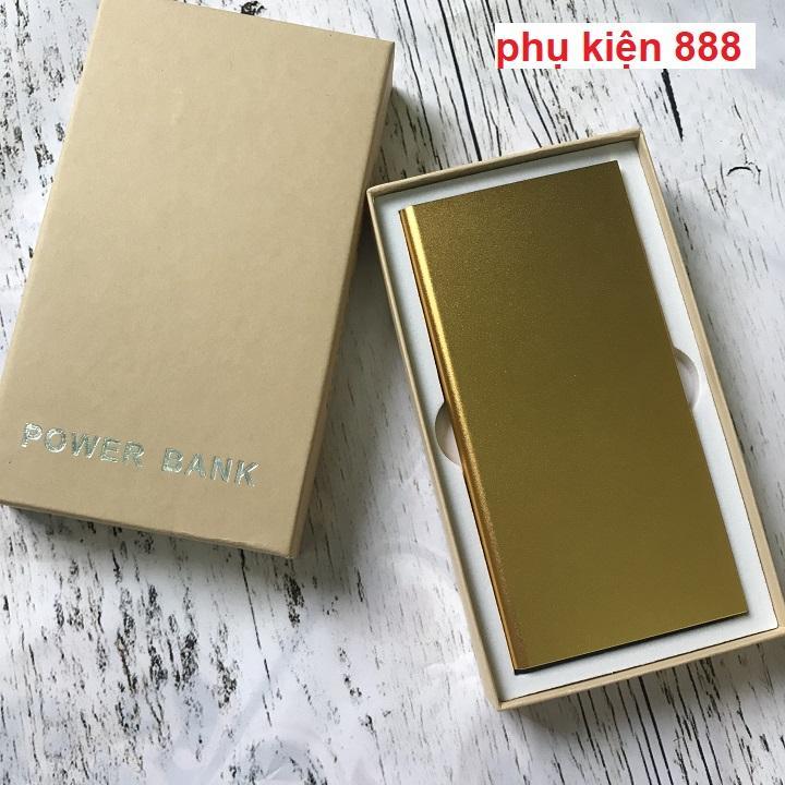 Pin sạc dự phòng siêu mỏng vỏ nhôm nguyên khối Power Bank 20000mah - S002