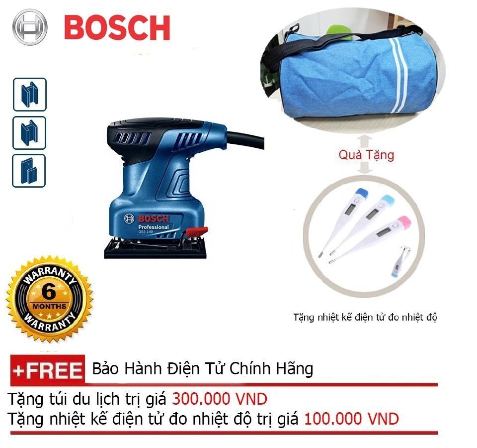 Máy chà nhám Bosch GSS 140 + Quà tặng balo du lịch