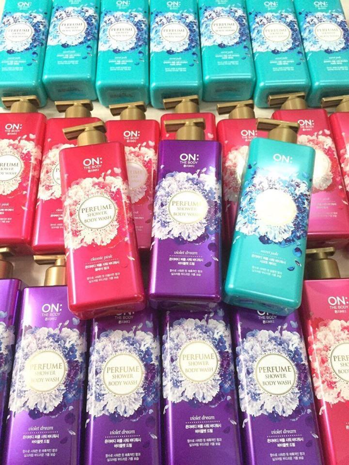 Sữa tắm On the body hương nước hoa nhập khẩu