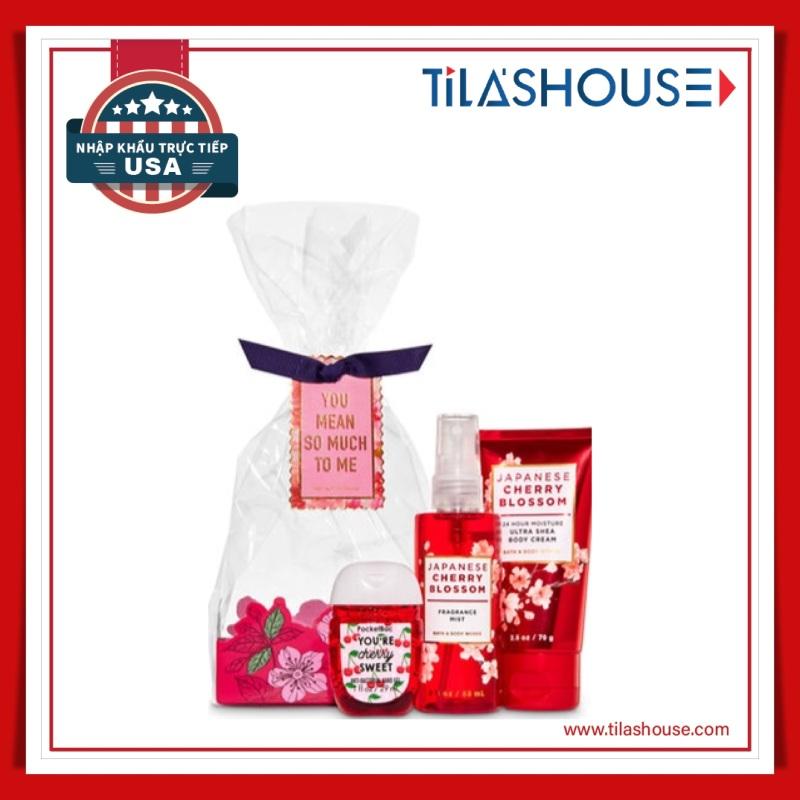 Bộ quà tặng Bath & Body Works Japanese Cherry Blossom nhập USA