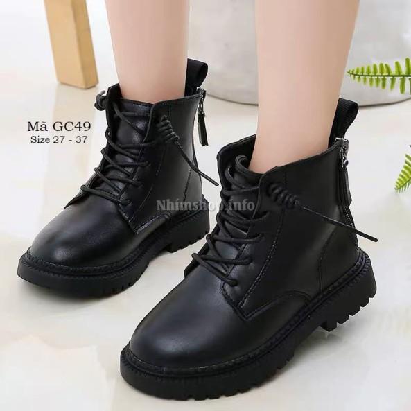 Giày bốt cổ cao cho bé trai bé gái 3 - 12 tuổi phong cách Hàn Quốc GC49 giá rẻ
