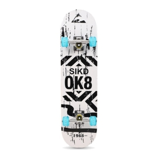 Ván trượt Skateboard bằng gỗ Trọng tải 180kg Ván Trượt Skateboarxrd Thể Thao Chất Liệu Gỗ Phong Ép Cao Cấp 7 Lớp Mặt Nhám-Ván Trượt Mặt Nhám Bánh PU+Cao Su Cỡ Lớn Xịn Ván trượt chuyên nghiệp SkateBoard (Phi thuyền mặt đất ) thumbnail