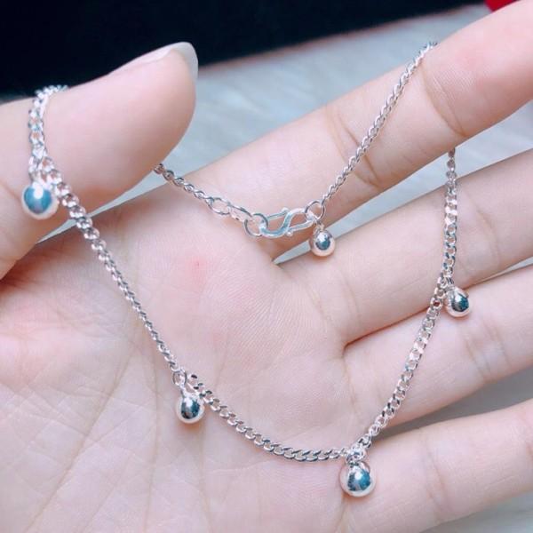 LẮC CHÂN CHUÔNG HÀNG DÀY DẶN - Chuyên sỉ trang sức bạc, cam kết giá tốt kèm bảo hành
