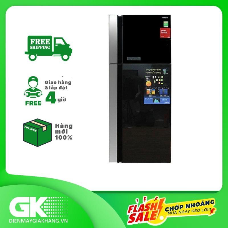 Tủ lạnh Hitachi Inverter R-FG560PGV8X GBK 450 lít 2019, tiết kiệm điện, công nghệ làm lạnh, hệ thống làm lạnh quạt kép, công nghệ kháng khuẩn, khử mùi - Bảo hành 12 tháng