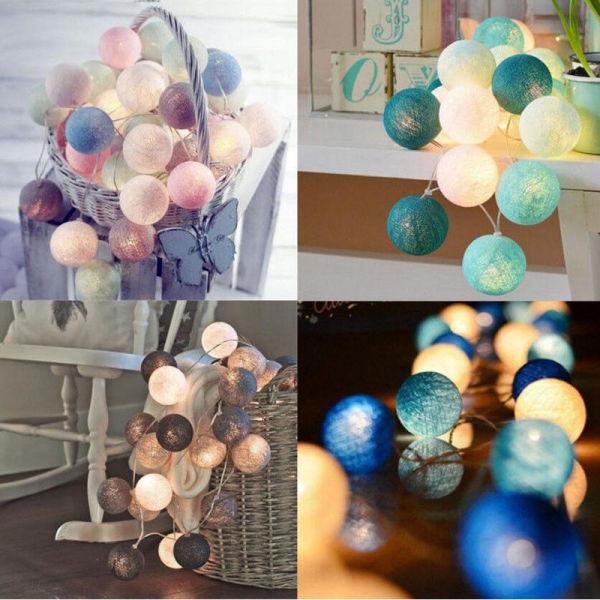 Bảng giá Dây đèn LED 20 bóng cotton dùng trang trí tiệc, phòng ngủ, bàn trang điểm - INTL
