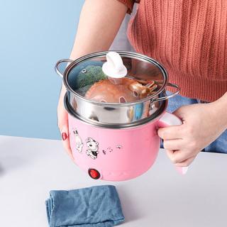 Nồi lẩu mini chạy điện đa chức năng dùng nấu lẩu hấp luộc lòng nồi bằng thép không gỉ an toàn cho sức khỏe - INTL,nồi mini nồi lẩu mini nồi hấp điện thumbnail