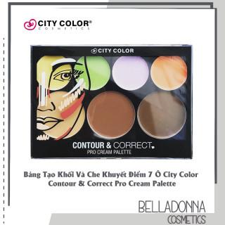 [CHÍNH HÃNG] Bảng Tạo Khối Và Che Khuyết Điểm 7 Ô City Color Contour & Correct Pro Cream Palette thumbnail