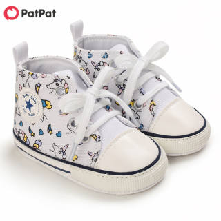 PatPat Vải Bố In Hoạt Hình Thường Ngày Cho Bé/Trẻ Mới Biết Đi, Prewalker Giày-Z