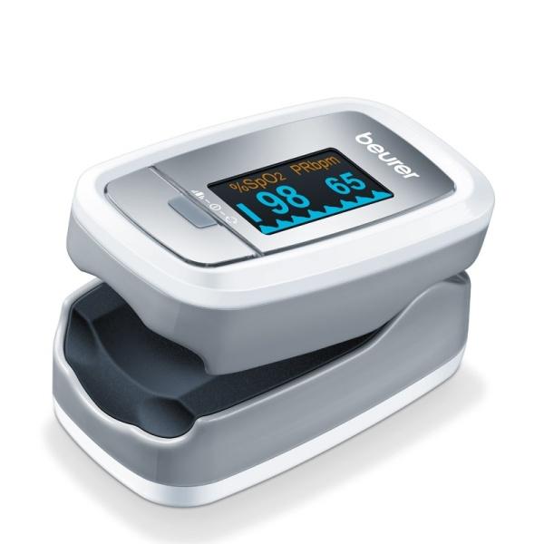 Nơi bán (BH 24 tháng) Máy Đo Khí Máu Và Nhịp Tim Cá Nhân Beurer PO30 phù hợp bệnh nhân tim, hen suyễn, huyết áp thấp