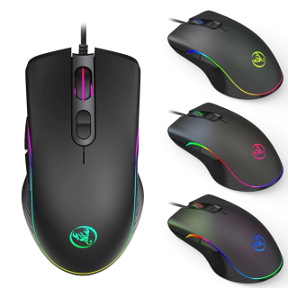 Chuột Văn Phòng, Chuột Game Có Dây A867 HXSJ - HXSJ A867 RGB Light Gaming Mouse with Grip Esports Wired Mause Plug Play Fire Button 4 Level 6400DPI for PC Computer Accessories thumbnail