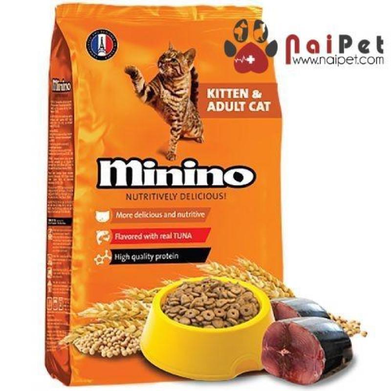 Thức Ăn Hạt Khô Cho Mèo Con Và Mèo Lớn Vị Cá Ngừ Minino 1.3kg
