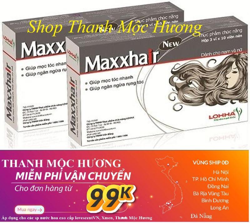 Mua 6 tặng 1!! 2 hộp MAXXHAIR Trị rụng tóc, kích thích mọc tóc, chối hói đầu cao cấp