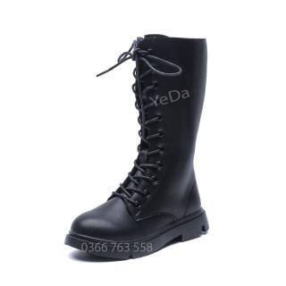 Boot cao cổ cho học sinh tiểu học, học sinh trung học nữ Hàn Quốc mã 7019 thumbnail