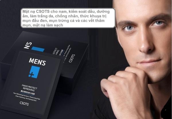 Mặt nạ giấy cho nam, kiểm soát dầu, dưỡng ẩm, làm trắng da, giảm mụn đầu đen, vết thâm mụn, dưỡng ẩm, cấp nước, làm mờ nếp nhăn, chống lão hóa