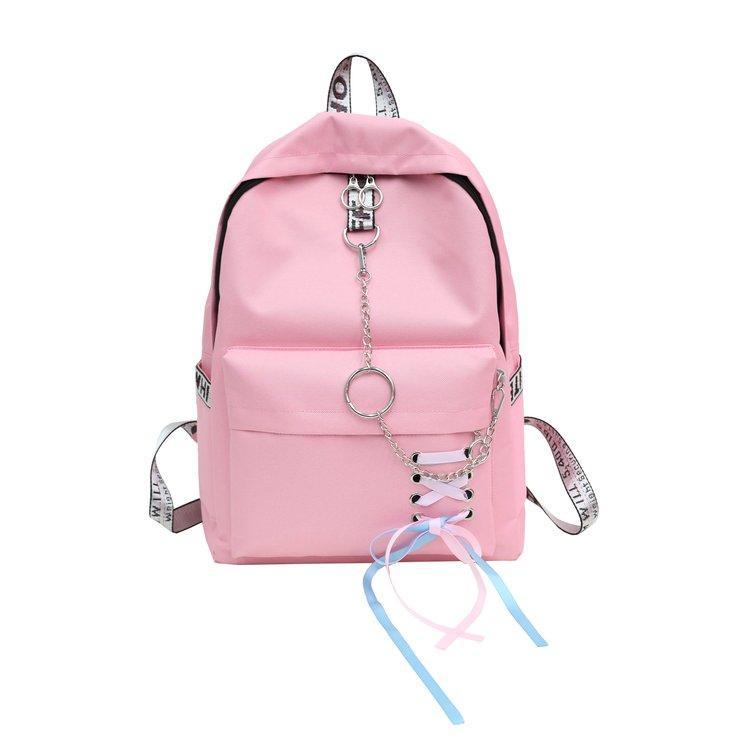 Vendange Sense Girls School Bag INS Ultra-Fire Backpack Female 2019 New Style Korean Style Large Capacity High School Students Backpack