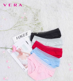 Combo 5 quần lót VERA cotton 4 chiều phối ren - 0347P thumbnail