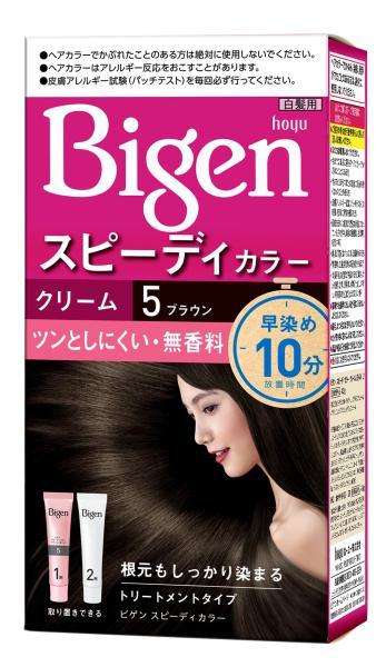 [Nhập khẩu Nhật Bản] Thuốc nhuộm tóc phủ bạc dạng kem Bigen Speedy Color Cream 80ml