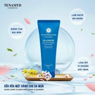 Sữa rửa mặt dành cho da dầu mụn Fresh White Sand TENAMYD 120ml thumbnail
