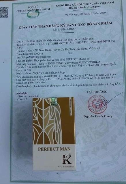 Perfect Man (Tăng Sinh Lý Nam, Bổ Thận Tráng Dương)