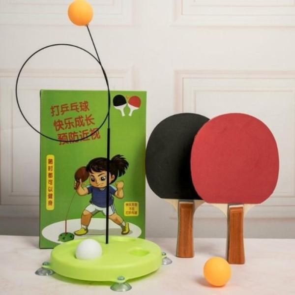 [LOẠI CÁN GỖ XỊN] Bộ bóng bàn luyện tập phản xạ cán gỗ rèn luyện sức khỏe cho bé cao cấp