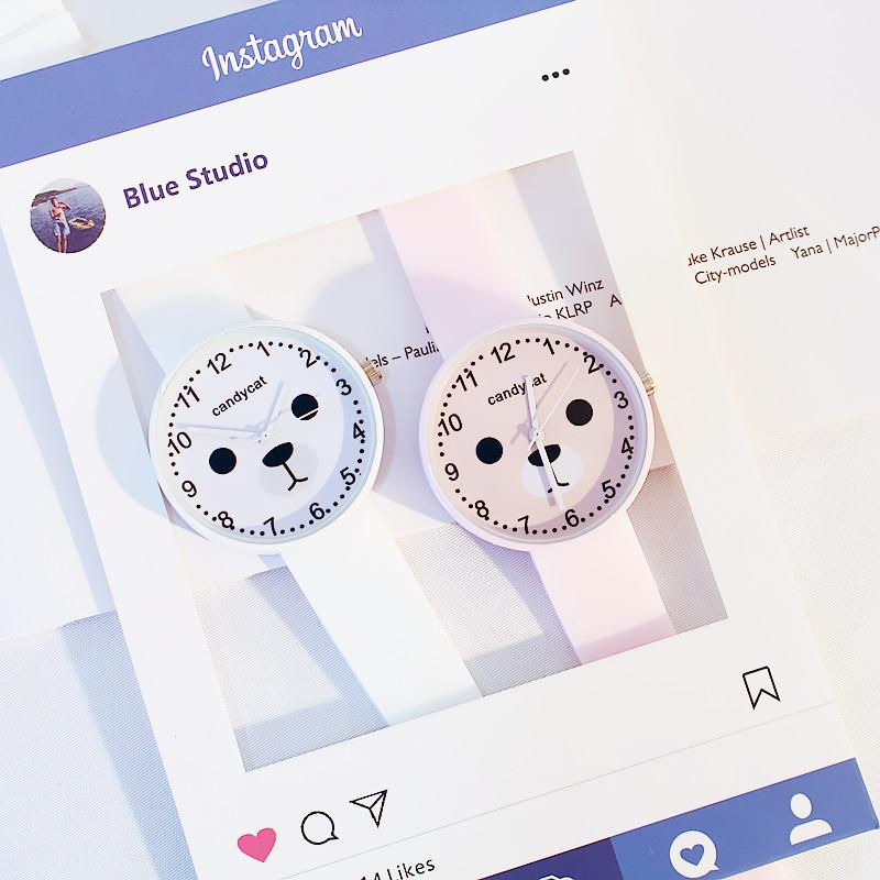(Mua 1 tặng 1) Đồng hồ hình gấu Pooh siêu Cute dây Silicone bền bỉ hottrend 2019 Nhật Bản