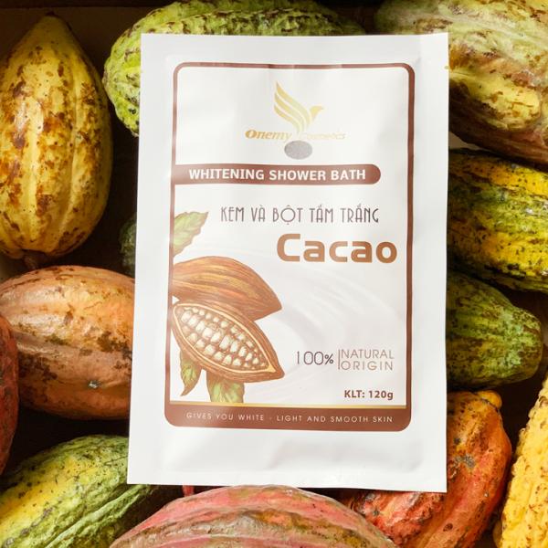 Cream và bột tắm trắng cacao Onemy chuẩn spa 120g cao cấp