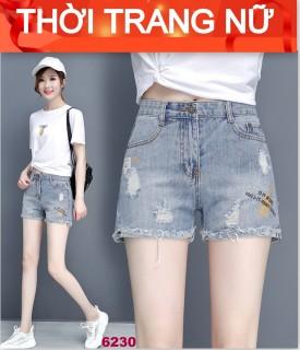quần short jean nữ cao cấp win268 MẪU MỚI NHẤT 2021 M6230 rách xước in thêu chuẩn shop màu xanh xám sáng thời trang An Nhiên Store an 278 thumbnail