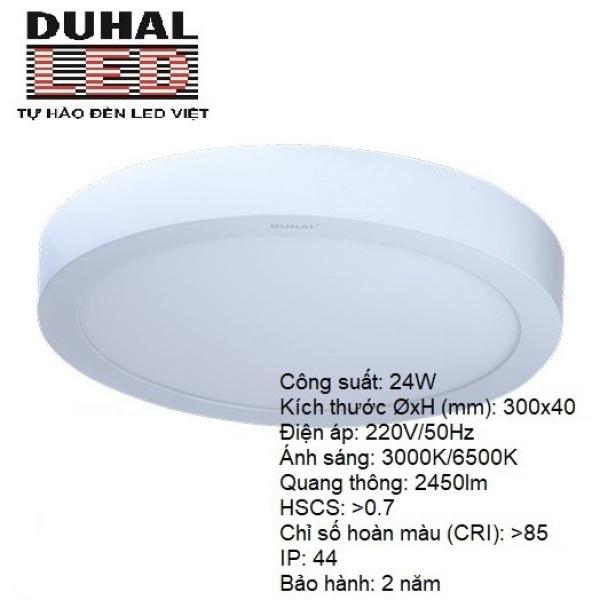 ĐÈN LED ỐP TRẦN TRÒN NỔI 24W DUHAL SÁNG TRẮNG SDGC524 CHIP SAMSUNG