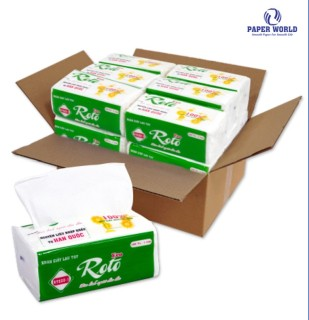 [HCM]Combo 20 gói khăn giấy rút lau tay đa năng 102 tờ ROTO ECO Thế Giới Giấy 100% bột giấy nguyên sinh RTE20-1 thumbnail