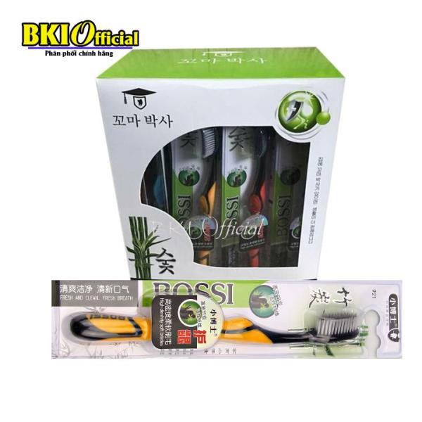 Hộp 30 Bàn chải đánh răng than tre hoạt tính, bàn chải Bossi Hàn Quốc 921 giá rẻ