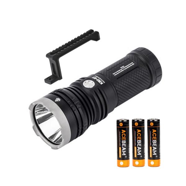 Bảng giá Đèn pin chiếu xa ACEBEAM K30GT KÈM PIN- LED LUMINUS độ sáng 5500lm chiếu xa 1024m dùng 3 pin 18650