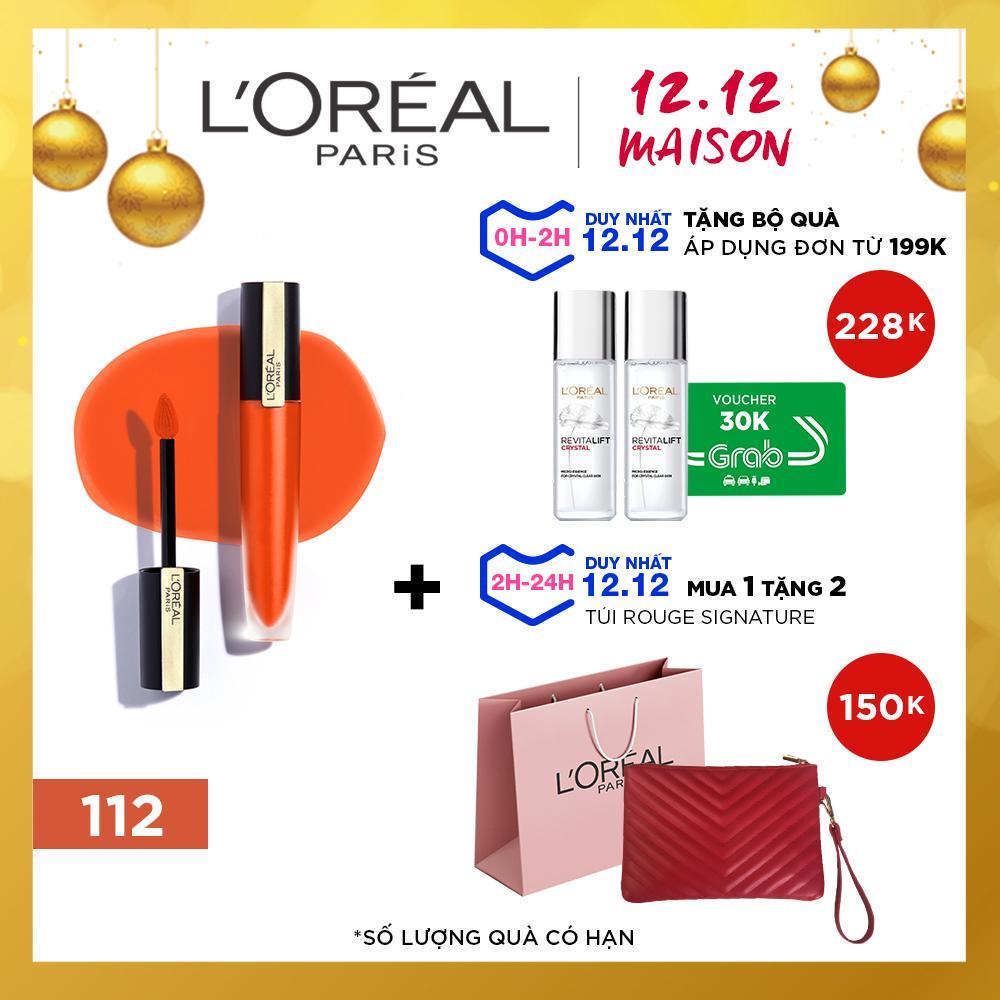 Son Tint Mịn Lì Cao Cấp L'Oréal Paris Rouge Signature 7ml Đang Trong Dịp Khuyến Mãi