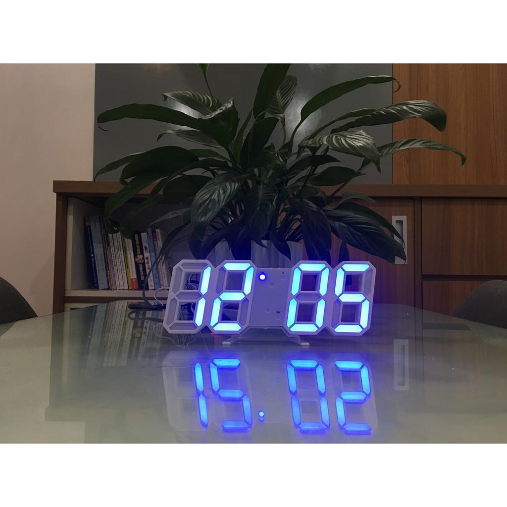 Đồng hồ Điện Tử 3D Để Bàn kèm PIN và CAB - Đồng hồ Treo Tường Cao Cấp - Báo Thức & Đo Nhiệt Độ - DH92 bán chạy