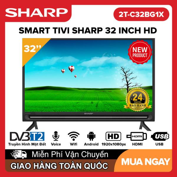 Bảng giá Smart Voice Tivi Sharp 32 inch Full HD - Model 2T-C32BG1X Android 9.0, Điều khiển giọng nói, Dolby Audio, Youtube, DVB-T2, Wifi, Google Assistant, Tivi Giá Rẻ - Bảo Hành 2 Năm
