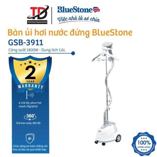 Bàn Ủi Hơi Nước Đứng BlueStone GSB-3911 (1800W) Bình Chứa Nước Dung Tích Lớn 1.6L Với Giá Treo Xoay 360 độ