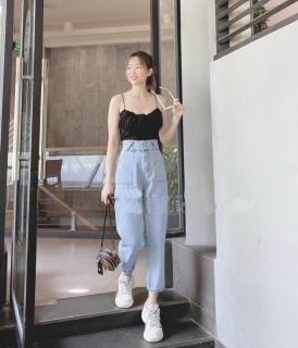 [HCM]Quần baggy jean quần bò chất vải cao cấp chất lượng thời trang trẻ trung lưng cao 1990STORE MS822A thumbnail