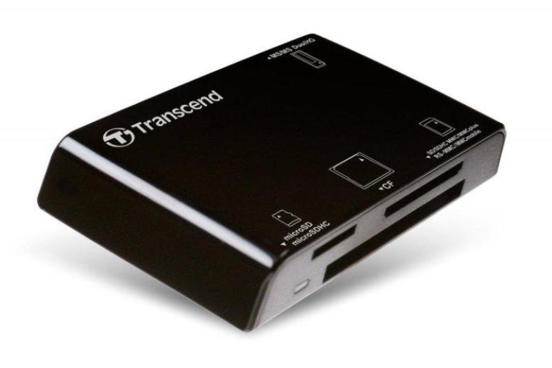 Đầu đọc thẻ nhớ Transcend P8 USB 2.0 - Màu Đen