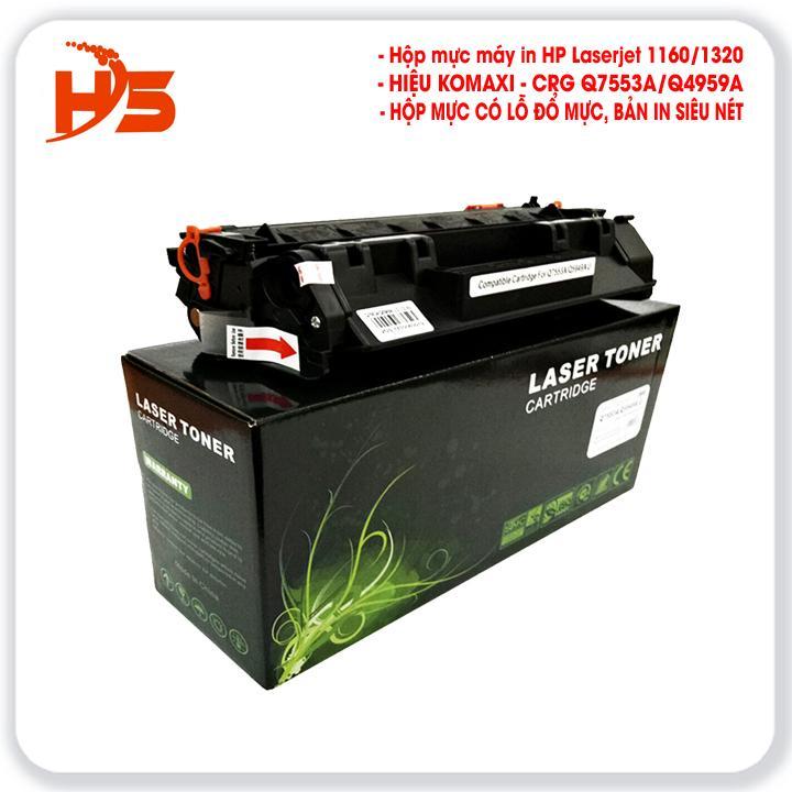 Hộp mực máy in HP Laserjet - 1160/1160LE/1320/1320N/1320t/1320tn/3390 (KOMAXI: CRG-Q7553A/Q5949A) Nhật Bản