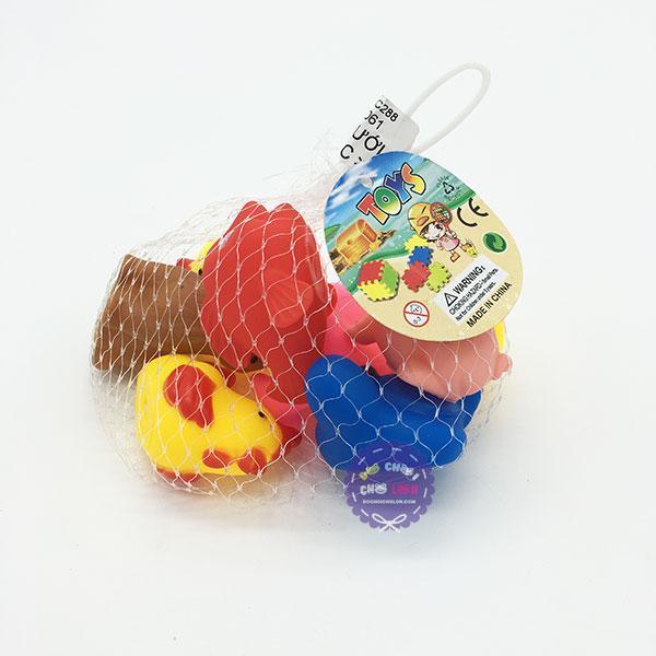 Túi đồ chơi con vật dễ thương các loại thú chít 8 con túi lưới Nhật Bản