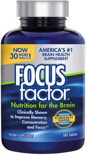 Viên uống bổ não FOCUS factor Nutrition for the Brain Dietary Supplement, 180 Tablets thumbnail