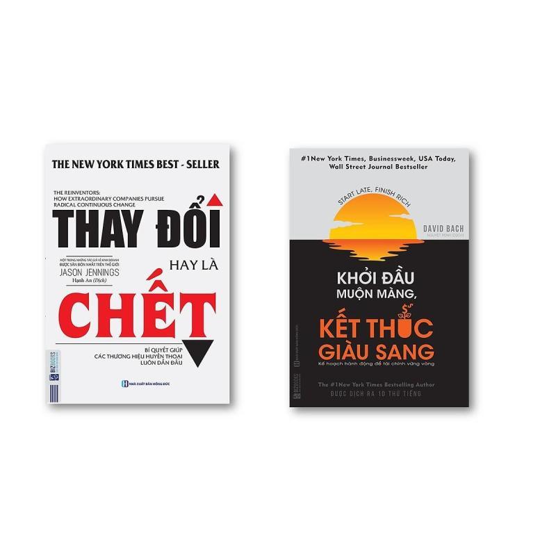 Combo Khởi Đầu Muộn Màng Kết Thúc Giàu Sang + Thay Đổi Hay Là Chết (Tặng kèm bookmark)