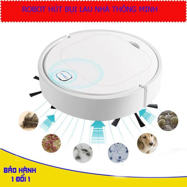 Robot Hút Bụi, Lau Nhà, Quét nhà 3 trong 1,nhỏ gọn, tiện lợi,thích hợp trên mọi loại sàn nhà, không gây ồn ào. BH 1 đổi 1. Giảm giá cực sốc trong hôm nay. Mua ngay!
