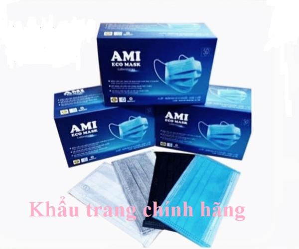 Khẩu trang y tế 4 lớp Ami  kháng khuẩn  cao cấp ( hộp 50 chiếc)