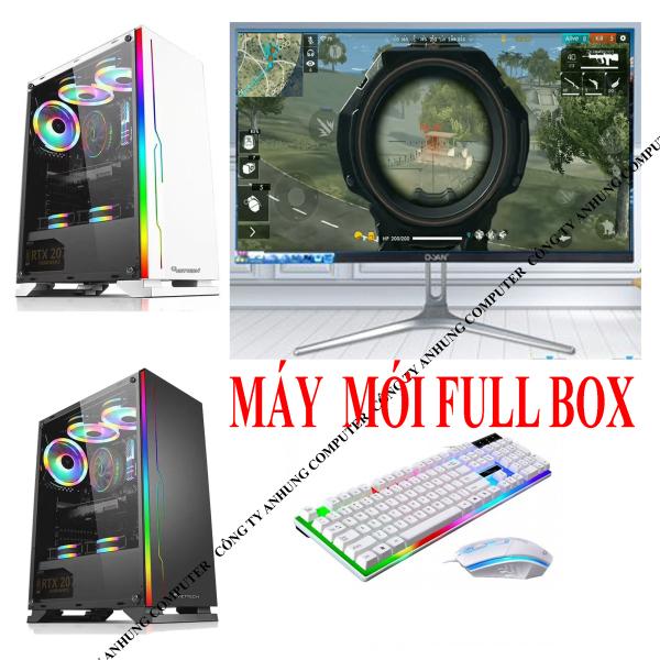 [MỚI]Bộ máy tính chơi GAME Màn 22 inch TRÀN VIỀN Full HD thùng LED VIP intel thế hệ 6 H110 SKYLAKE, Ram DDR4 (nhanh hơn 3 ddr3), ổ điện tử SSD  (Đầy đủ CPU, Màn hình, bàn phím, chuột led giả cơ)